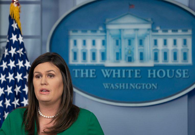 Witte Huis-woordvoerster Sarah  Huckabee-Sanders.