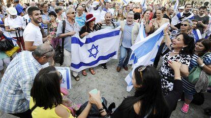 Paar honderd pro-Israëlbetogers in Amsterdam