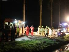 Automobilist naar ziekenhuis na botsing met boom