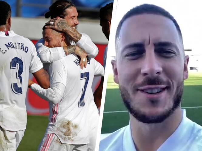 """Gretige Eden Hazard man van de match bij Real na fantastische goal: """"Heel blij dat ik weer op het veld sta"""""""