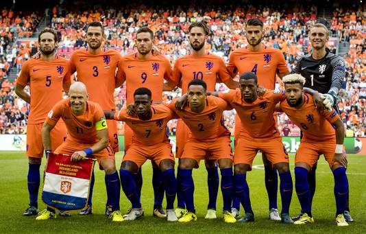 Teamfoto van Nederland.