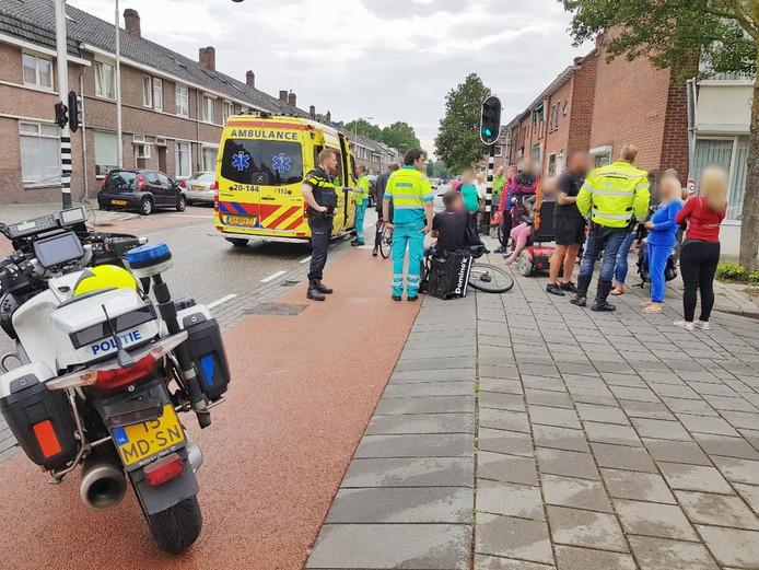 De scooterrijder raakte gewond.