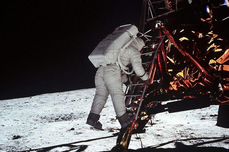 Foto van de eerste maanlanding. (EPA) Beeld