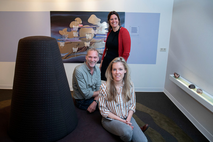 Het nieuwe geestelijk team van het Elkerliek Ziekenhuis in Helmond. Voor: Noëmie Vanherf, midden: Toin Coolen, achter: Ankie Spelbrink.