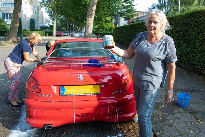Alike (75) had een flinke klus aan het schoonmaken van haar Peugeot