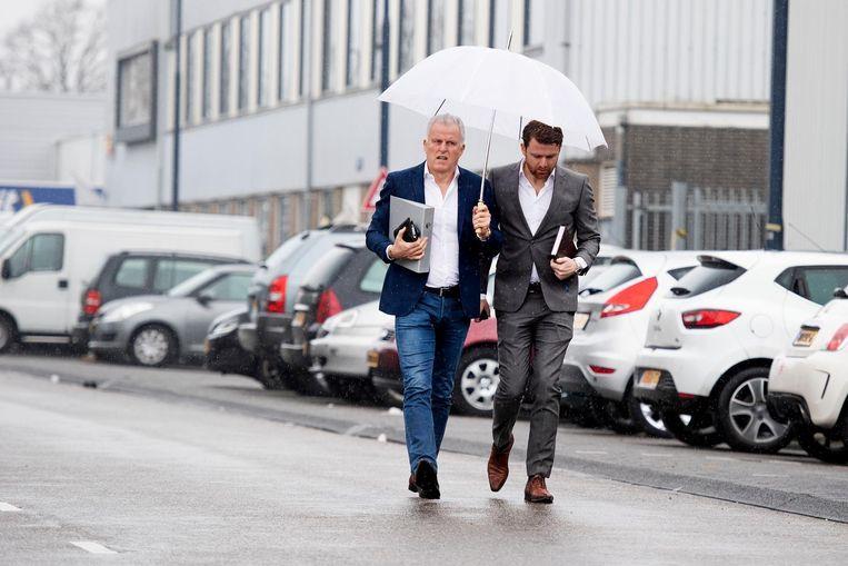 Misdaadverslaggever Peter R. de Vries (links) en zijn zoon Royce de Vries. Beeld anp