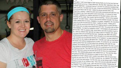 """""""Ik zie je graag. Ik ben beschoten op het werk"""": vrouw deelt laatste bericht van man na schietpartij Aurora en hoe ze ontdekte dat hij dood was"""