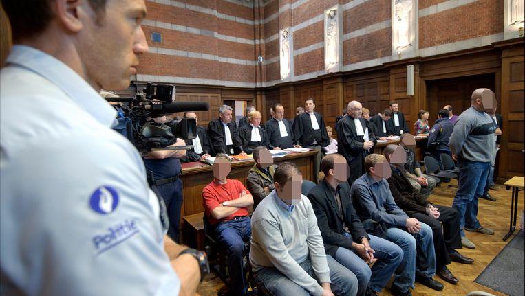 De leden van BBET in de rechtbank van Dendermonde, in 2011.