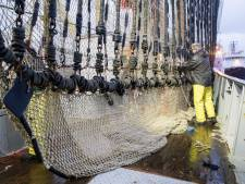 Honderd Urker vissers in Straatsburg voor stemming over pulsvisserij: kinderen uit Urk zingen protestlied
