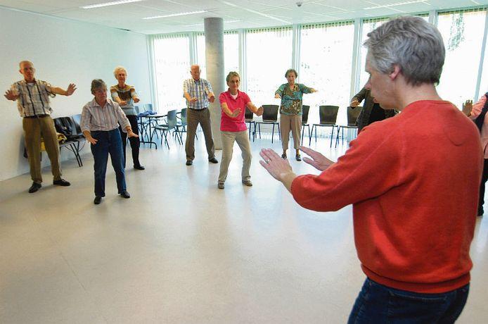 Tai chi is één van de activiteiten waar senioren kennis mee kunnen maken.