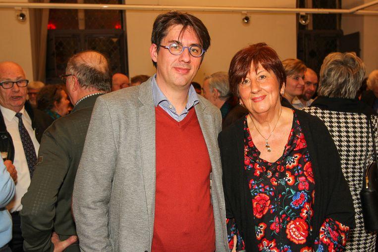 Jan Snoeys  en Mia Snoeys-Hermans tijdens de CD&V receptie in Herentals.