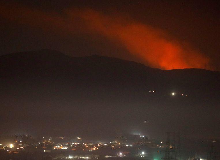 In Damascus waren er zware explosies te horen, die afkomstig waren van buiten de stad.