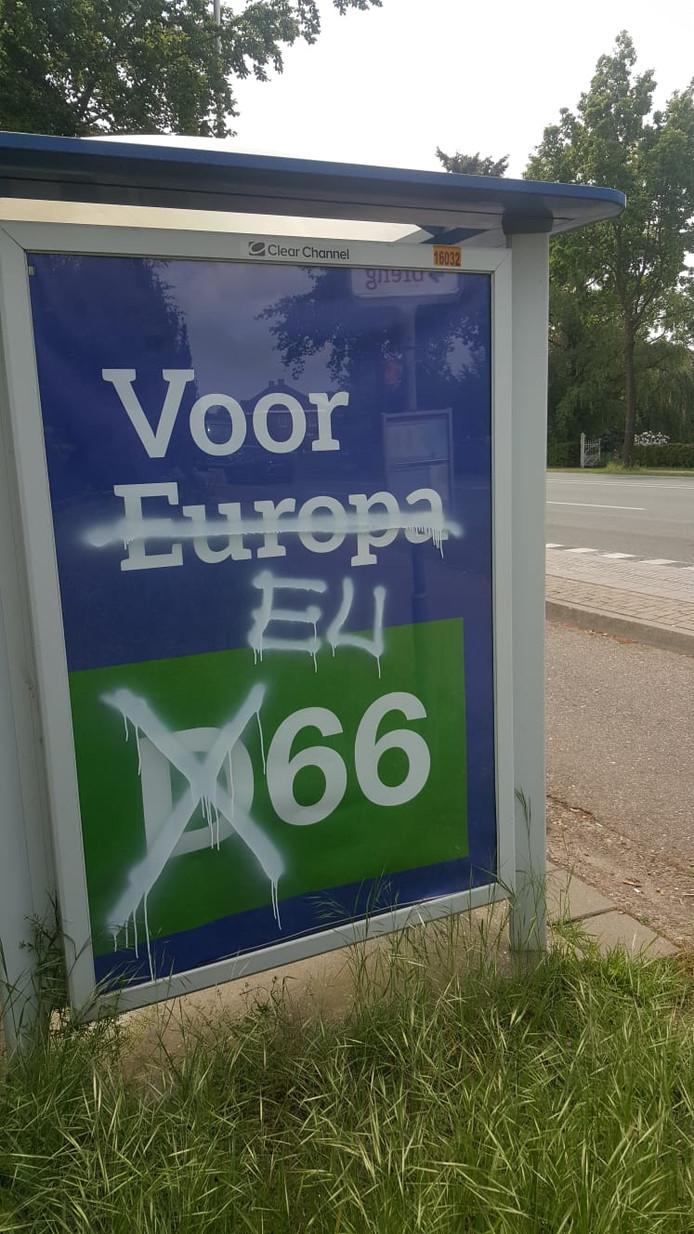 Anti-EU leuzen in Nijmegen en Malden