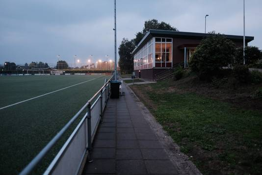 De toplaag van het huidige kunstgrasveld op sportpark De Boshoek wordt vervangen.