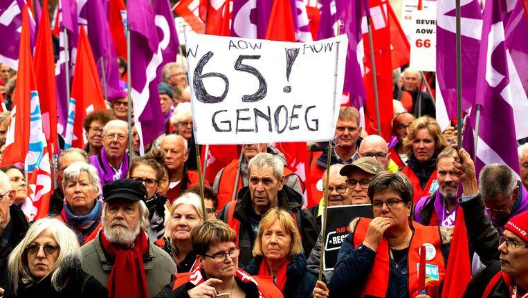 Betogers willen een socialer Nederland. Beeld anp