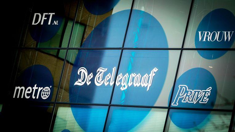 Exterieur van het pand van multimediabedrijf Telegraaf Media Groep (TMG). Beeld anp