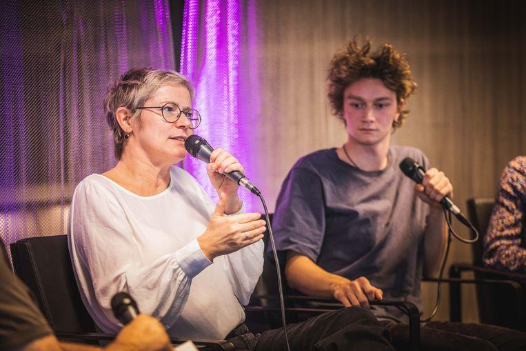 Regisseur Patrice Toye en acteur Tijmen Govaerts in gesprek tijdens de eerste 'Film Fest Gent Daily Talkies' van deze editie.