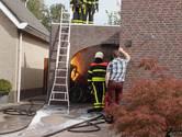 Frietpan in brand in garage in Veen