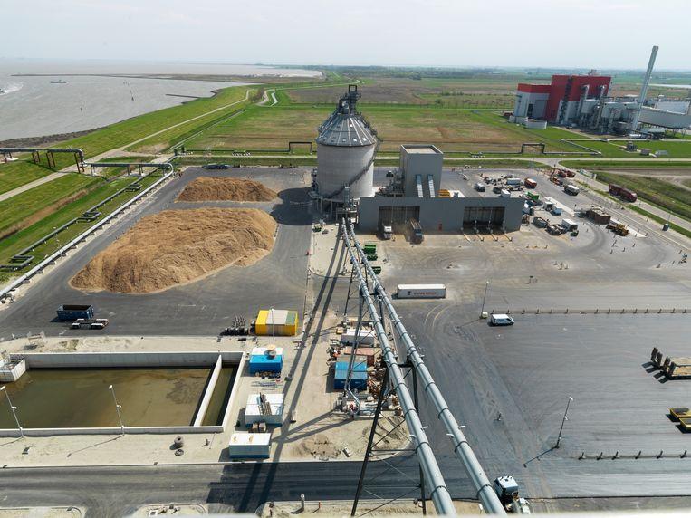 Een biomassacentrale van Eneco.  Beeld Hans Banus