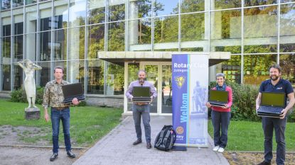 Rotary en Rotaract Zottegem schenken 20 laptops aan Sint-Franciscusinstituut en Stella Matutina in Brakel