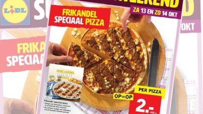 Lidl lanceert pizza met frikandel speciaal, én zuurkoolkroketten