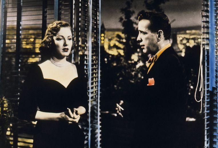 Eleanor Parker en Humphrey Bogart in Chain Lightning Beeld ANP