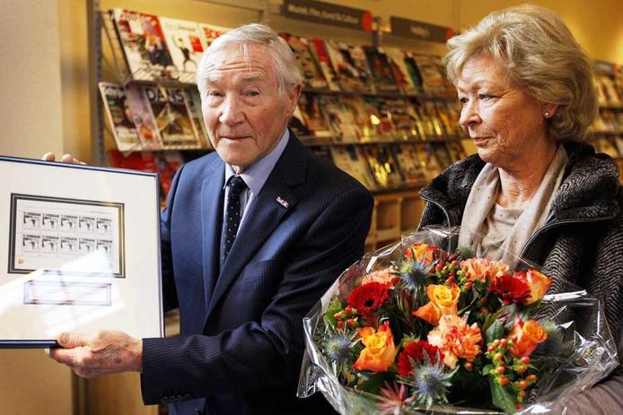 Reinier Paping samen met zijn echtgenote. Foto: ANP