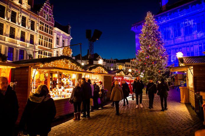 Illustratiebeeld kerstmarkt
