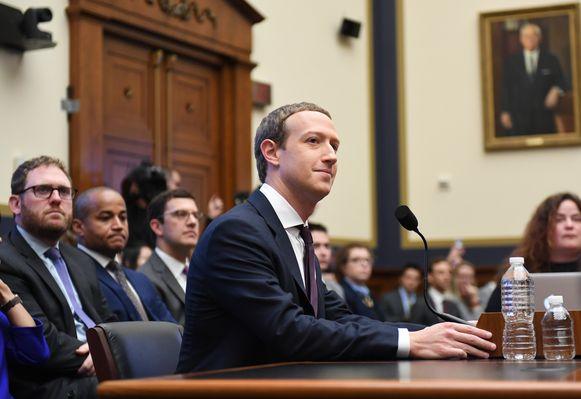 Mark Zuckerberg in het Amerikaanse Huis van Afgevaardigden vorige week.