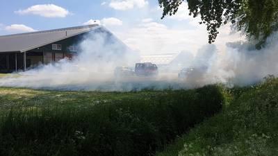 Jeugdbrandweerwedstrijd in Beuningen eindigt in serieuze brand