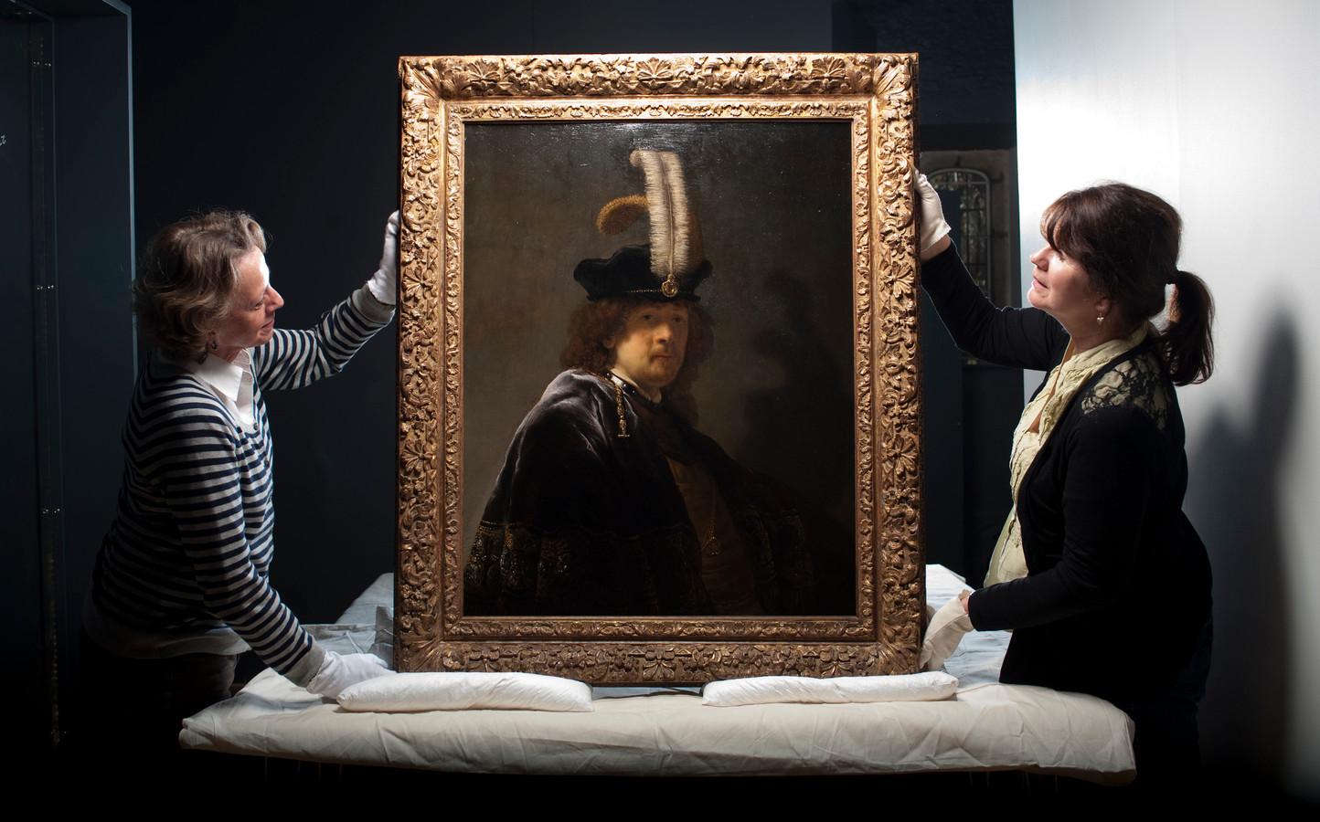 Het zelfportret van Rembrandt.