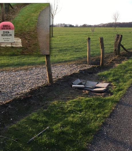 Giro d'Italia-paaltje gestolen langs Zevenheuvelenweg in Groesbeek