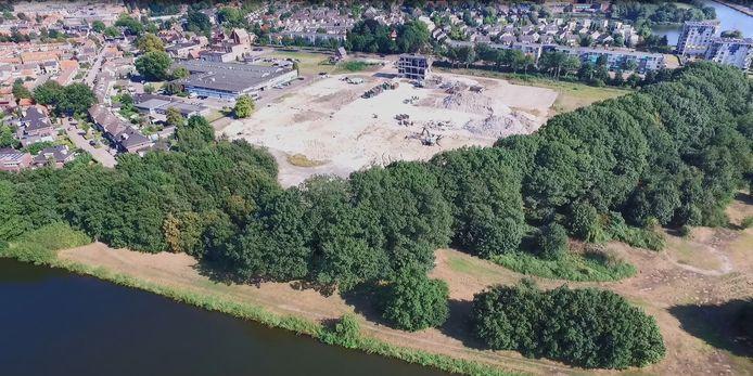 Het PDM-terrein. Still uit dronefilmpje van de firma Beelen.