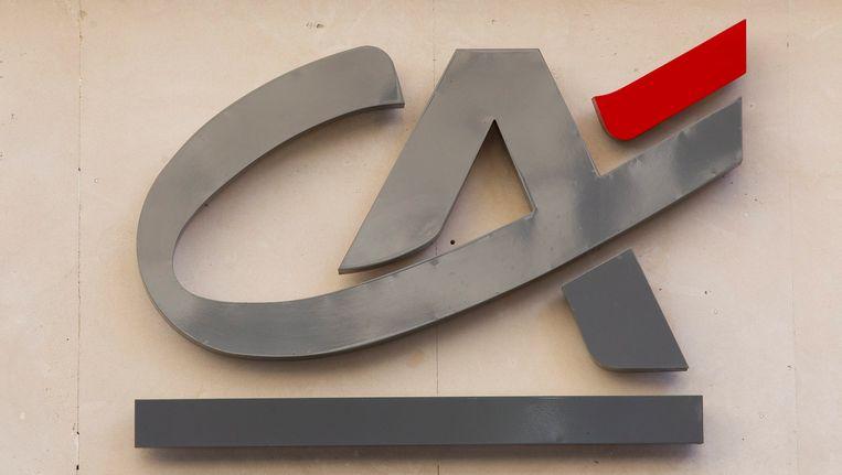 Het logo van Crédit Agricole. Beeld epa