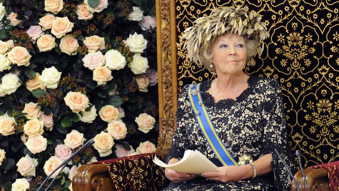 Koningin Beatrix tijdens de troonrede van 2012.