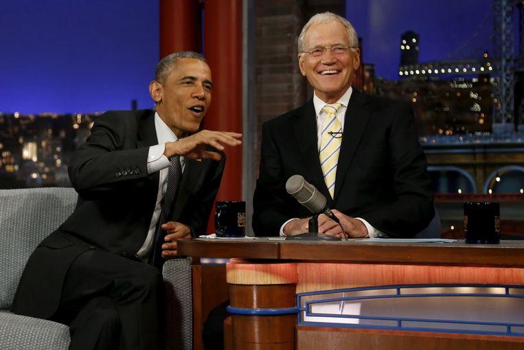 Obama was in 2015 al eens te gast bij David Letterman.