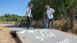 Omhooggekruld asfalt ideaal voor skaters