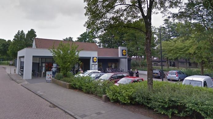 De Lidl aan de Burgemeester de Vries Broekmanlaan in Oud-Beijerland