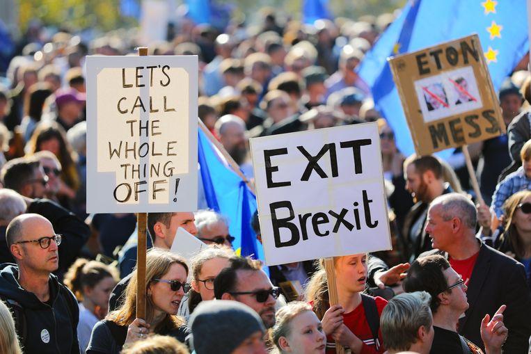 Afbeeldingsresultaat voor betoging tegen brexit in Londen