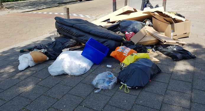 Bijzetafval in Eindhoven.