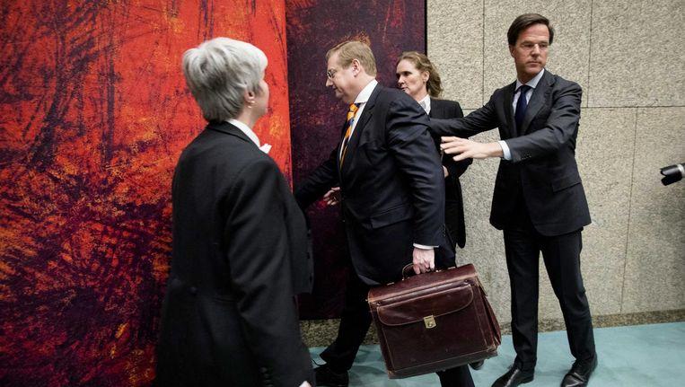Ard van der Steur verlaat de Tweede Kamer. Beeld anp