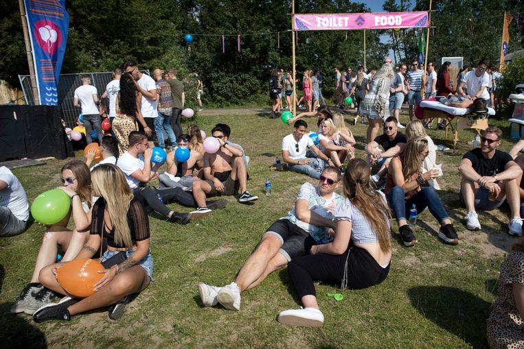 Festival Verknipt in 2019. De advertenties voor het festival werden gedaan door Boest. Beeld Werry Crone
