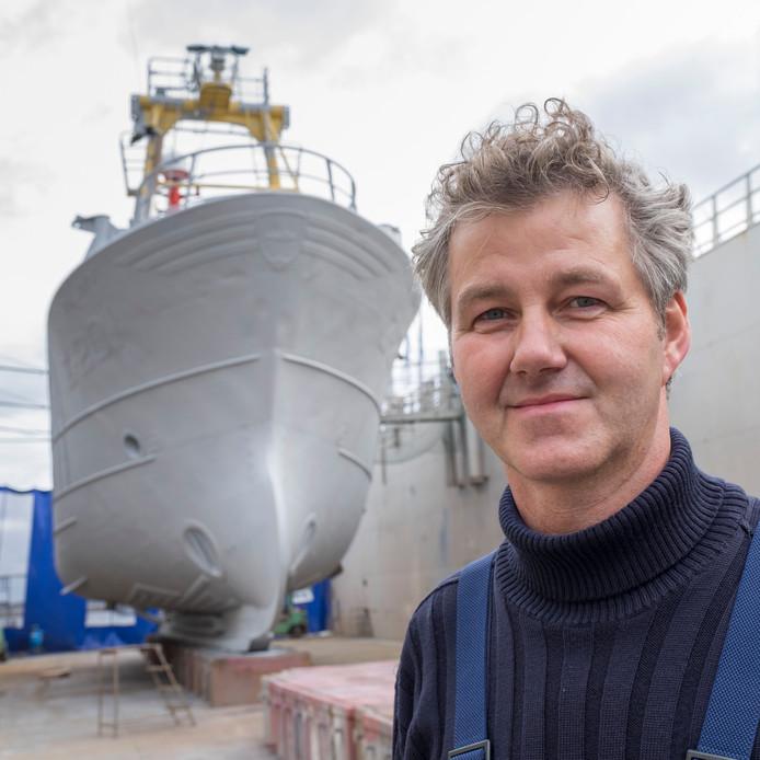 Visser Job Schot, voorzitter van de actiegroep Eendracht Maakt Macht.