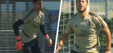 Hazard et Courtois ont repris l'entraînement