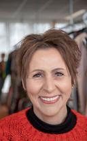 Coördinator Thea Kuik van de Kledingbank Veenendaal.