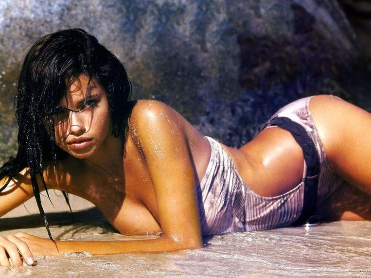 Het Braziliaans topmodel Adriana Lima. Beeld