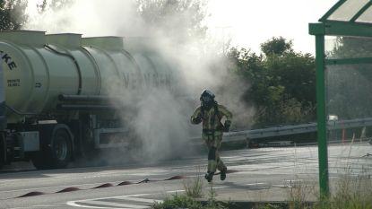 Truck lekt zoutzuur in Middelkerke
