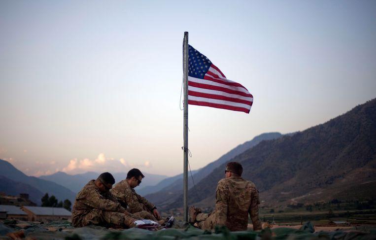 Amerikaanse militairen in de provincie Kunar in het noordoosten van Afghanistan. Beeld AP