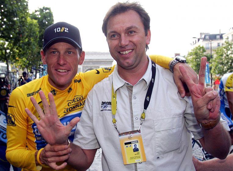 Waarom wij er, in tegenstelling tot anderen, niet mee zijn weggekomen? Lance heeft zeven keer de Tour gewonnen: dat is te veel. En onze arrogantie heeft ook niet geholpen. Beeld