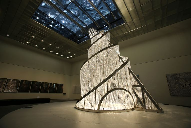 'Fountain of Light' van de Chinese kunstenaar Ai Weiwei. Beeld AP
